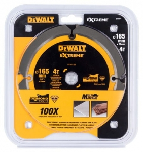 DEWALT DT1471-QZ Tarcza pilarskie do włóknocementu 165x20mm x4T