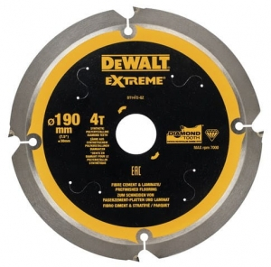 DEWALT DT1472-QZ Tarcza pilarskie do włóknocementu 190x30mm x4T
