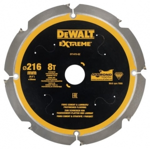 DEWALT DT1473-QZ Tarcza pilarskie do włóknocementu 216x30mm x8T