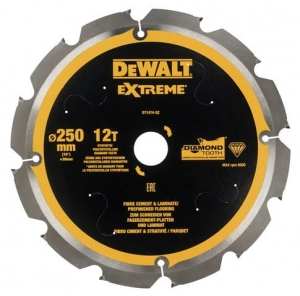 DEWALT DT1474-QZ Tarcza pilarskie do włóknocementu 250x30mm x12T