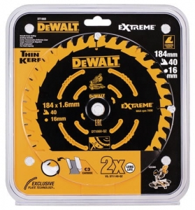 DEWALT DT1668-QZ SPECJALNA TARCZA PILARSKA EXTREME® do DCS365 184x16x40T Medium for DCS365